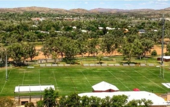 Anzac Oval in Alice Springs