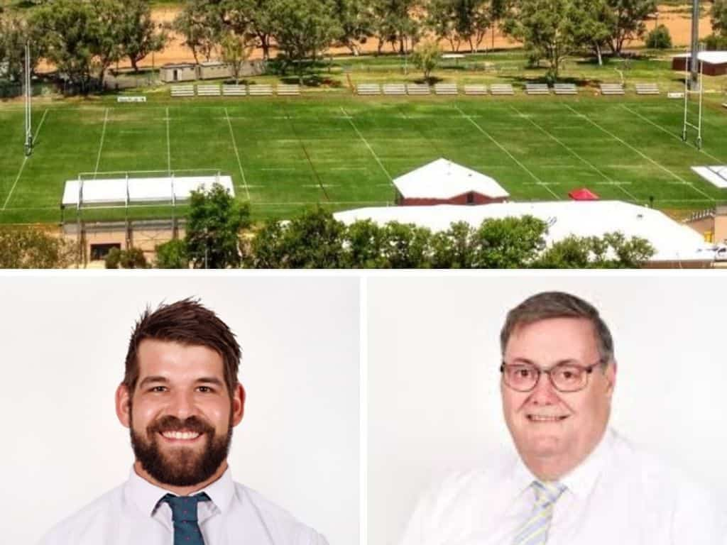 Alice Springs Mayor Damien Ryan and Deputy Mayor Matt Paterson