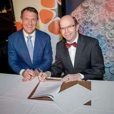 NT Chief Minister Michael Gunner and CDU vice-chancellor Simon Maddocks