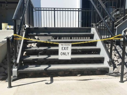 Darwin Turf Club grandstand stairs