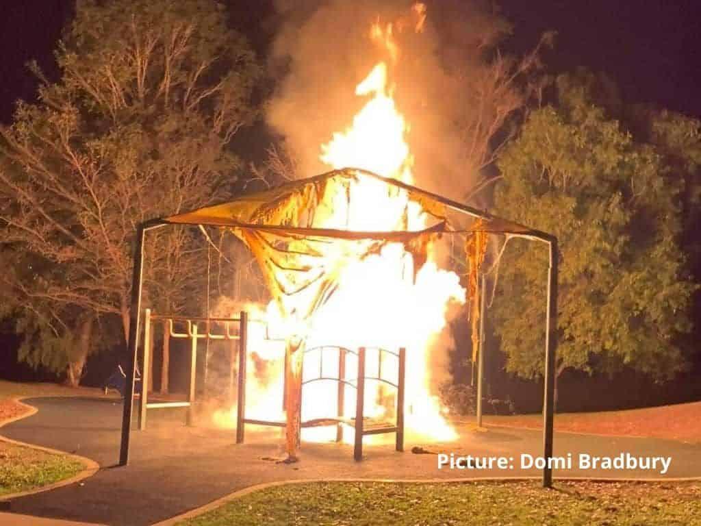 Palmerston playground fire