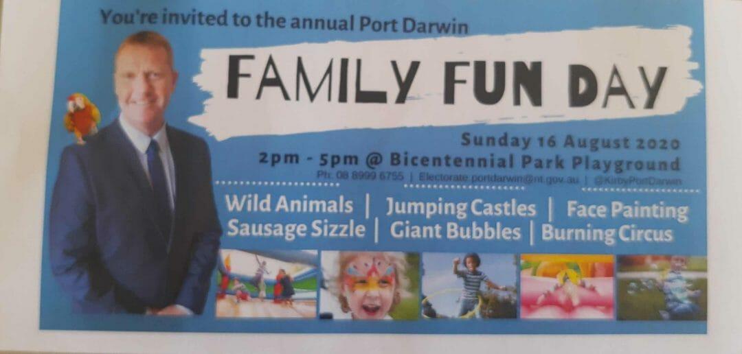 Port Darwin family fun day flyer