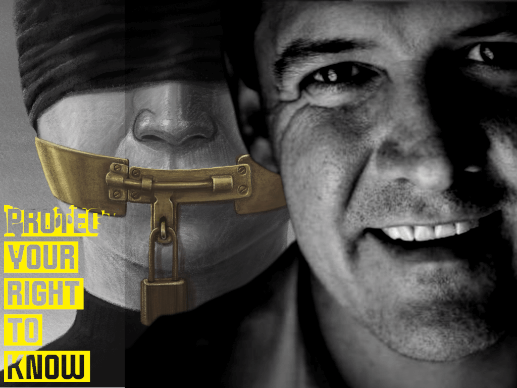 Michael Gunner press freedom ban image