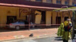 Man who crashed car into Alice Springs pub doused himself in petrol: Video